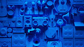 istock Blue Musical Instrument Wall 1283143454