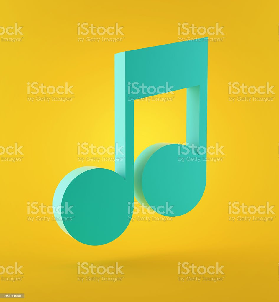 Blue musical note stock photo