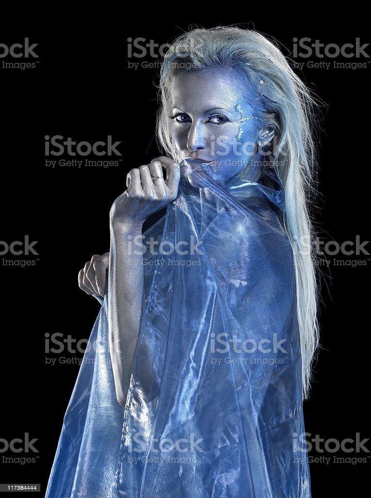 blue mystic woman royalty-free stock photo