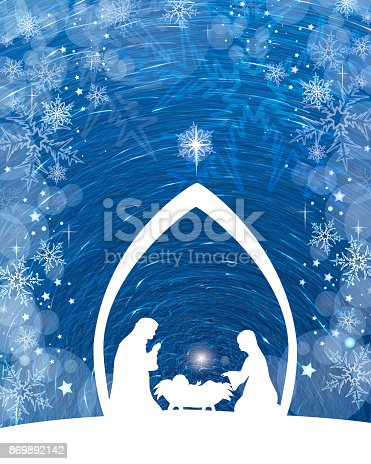 istock Blue Nativity 869892142