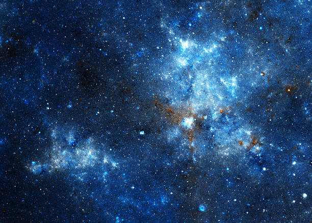Blue nebula stock photo