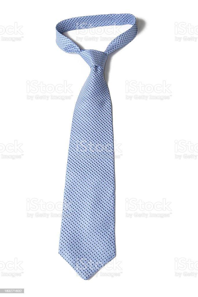 Blue Necktie on White stock photo