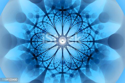 843593806 istock photo Blue negative network fractal concept 1154120450