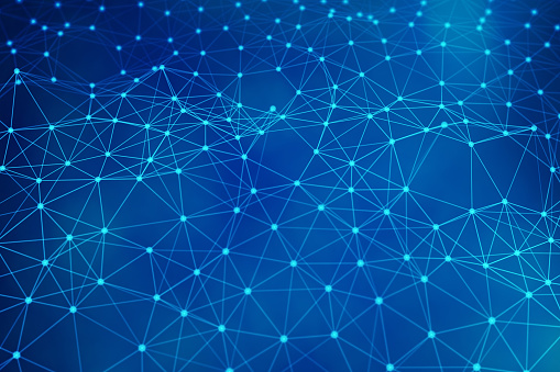 944923496 istock photo Blue network connection lines. Futuristic background for technology concept, abstract illustration 944923554