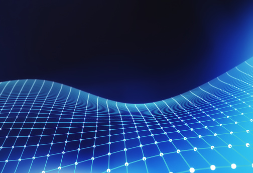 944923496 istock photo Blue network connection lines. Futuristic background for technology concept, 3d abstract illustration 960988754