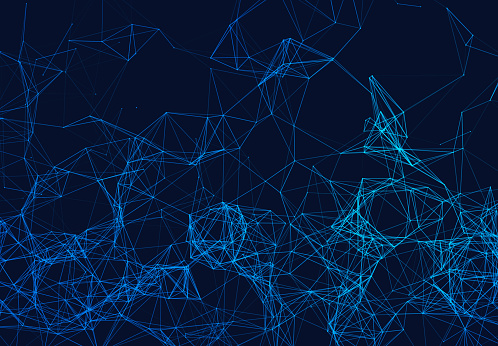 944923496 istock photo Blue network connection lines on black. Futuristic background for technology concept, abstract illustration 965576706
