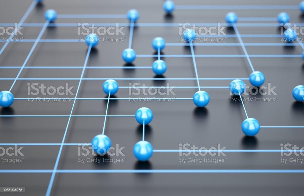 Blue network zbiór zdjęć royalty-free
