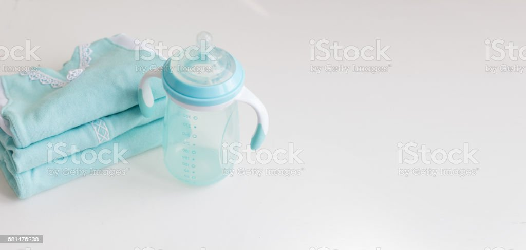 blue newborn Clothing hand made. royalty-free stock photo