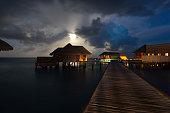 Blue night at the maldives - Conrad Rangali - Maldives.