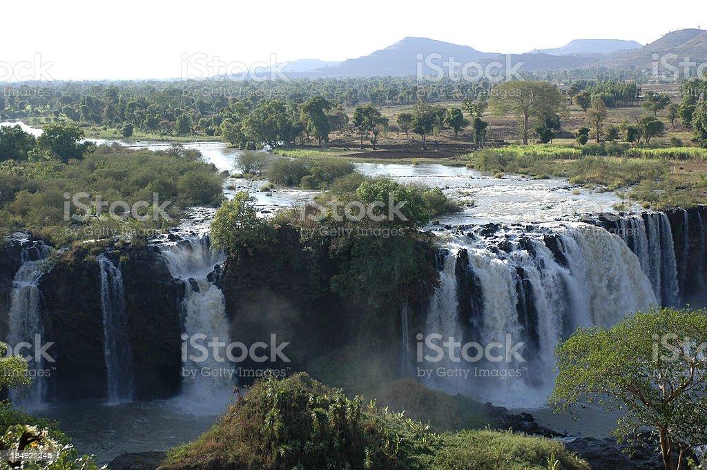 Blue Nile falls, Ethiopia stock photo