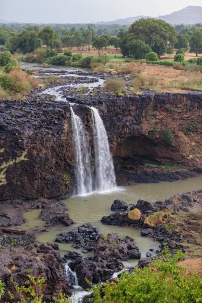 Blue Nile Falls in Bahir Dar, Ethiopia stock photo