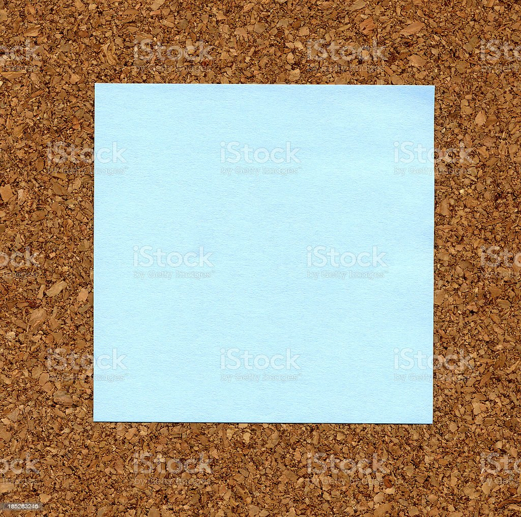 Blue Notepaper royalty-free stock photo