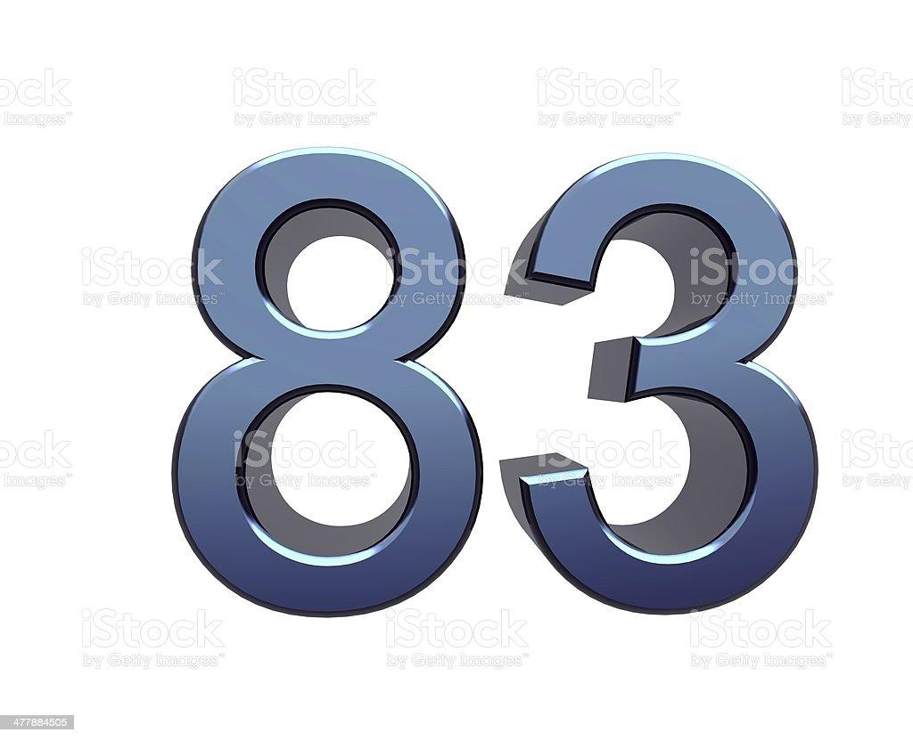 ブルー番号 eighty -3 ストックフォト