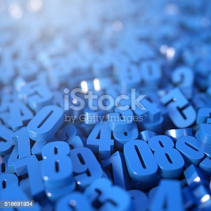 istock Blue numbers background 516691934