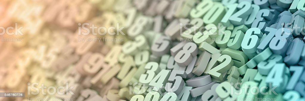 Blue numbers background stock photo