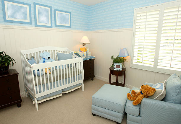 Blue nursery stock photo