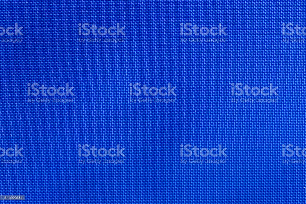 Blue nylon fabric texture stock photo