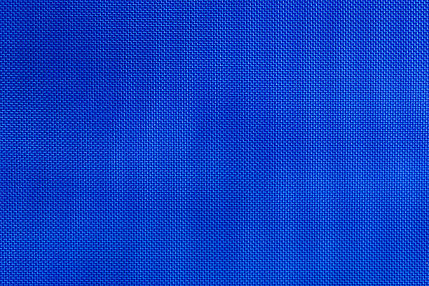 blue nylon fabric texture - nylon texture stock pictures, royalty-free photos & images