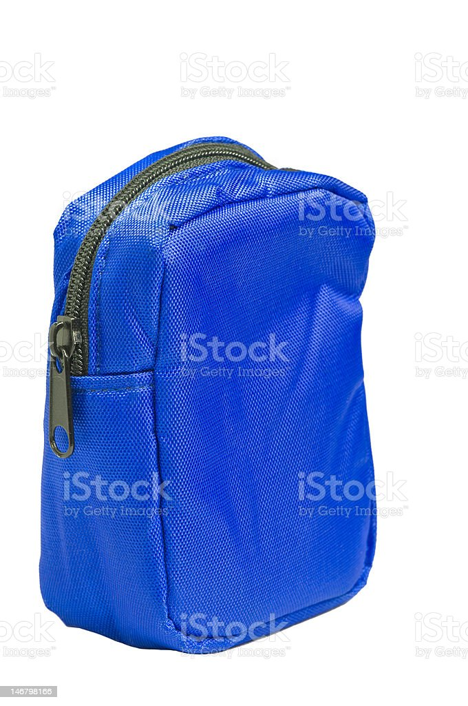 Blue Nylon Pouch royalty-free stock photo