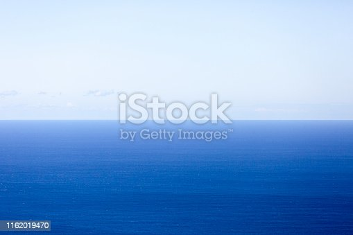 istock Blue ocean and sky, beautiful nature background with copy space 1162019470