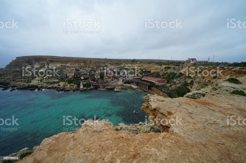 Blue Ocean in Malta stock photo