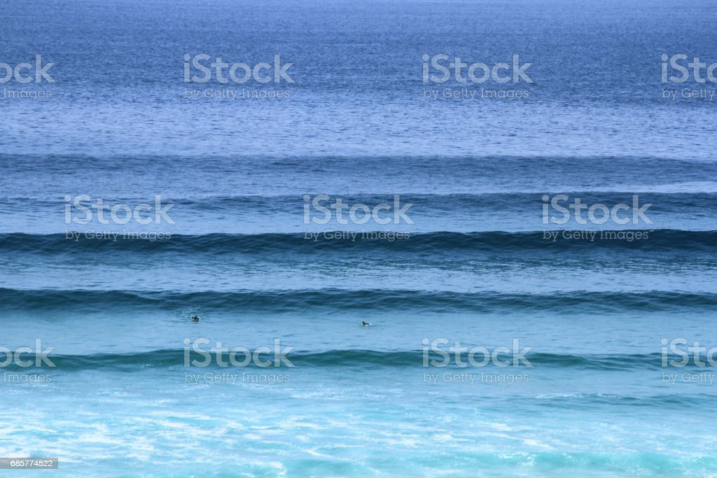 Blue Ocean Lines royalty-free stock photo