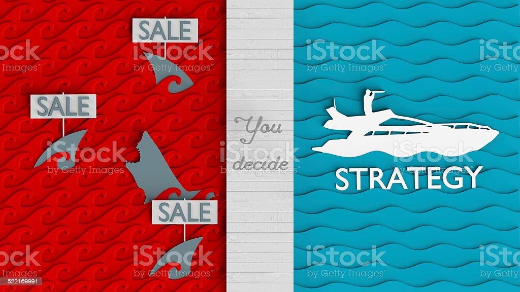 Blue ocean strategy stock photo