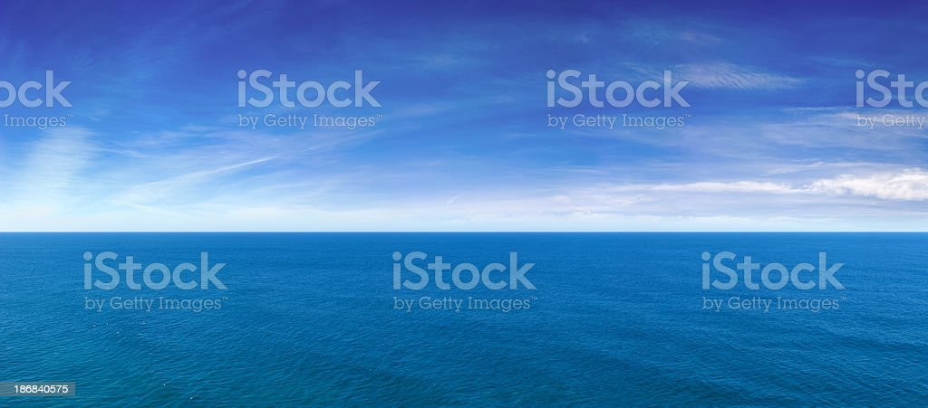 Blue Ocean View Panorama royalty-free stock photo