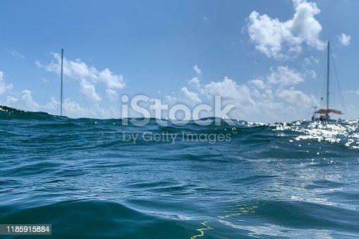 959508862 istock photo Blue Ocean Water of the Caribbean sea 1185915884