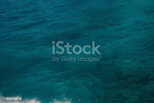 959508862 istock photo Blue Ocean Water of the Caribbean sea 1185916678