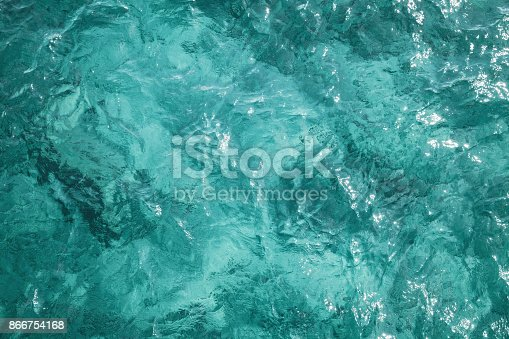 istock Blue ocean water surface, background photo 866754168