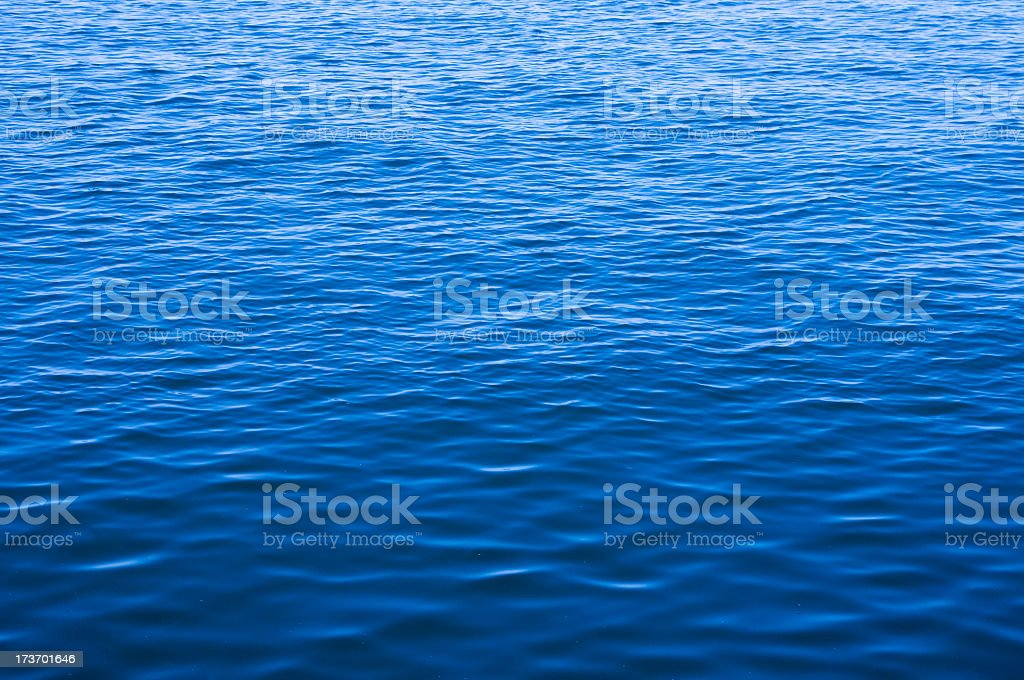 Blue ocean water with waves background royalty-free stock photo