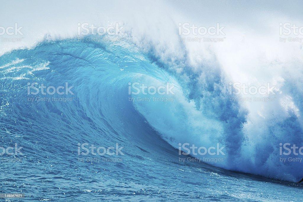 Beautiful Blue Ocean Wave in Hawaii