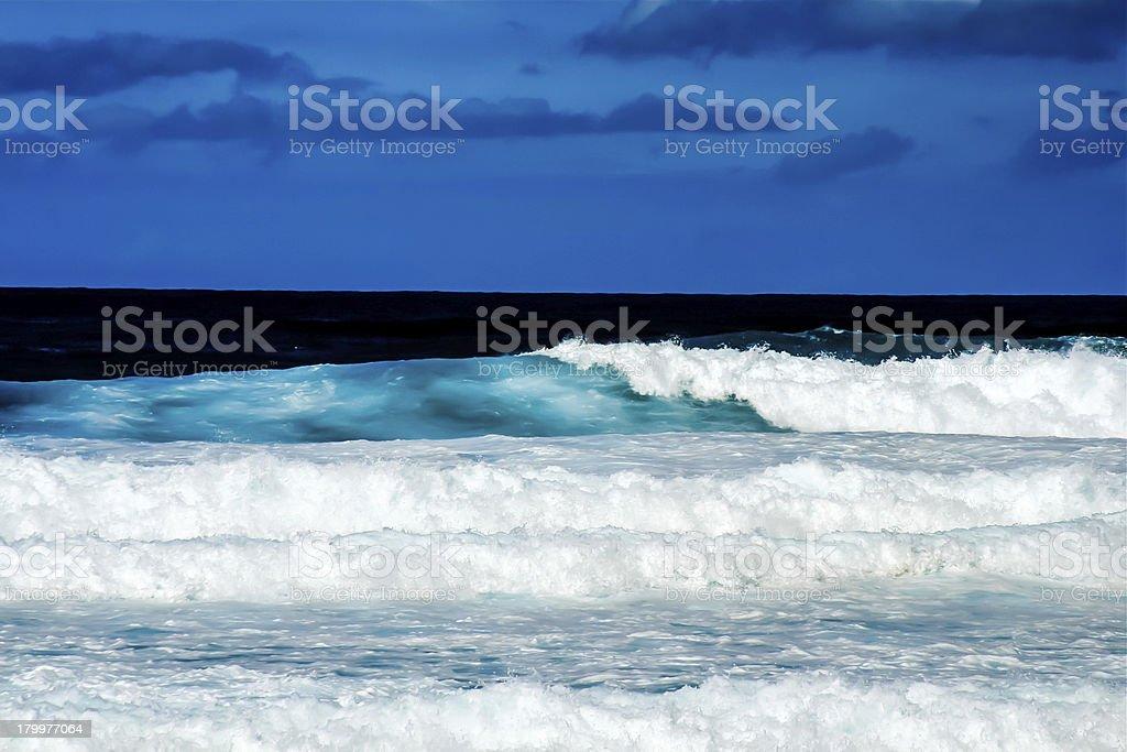 Blue Ocean Waves royalty-free stock photo