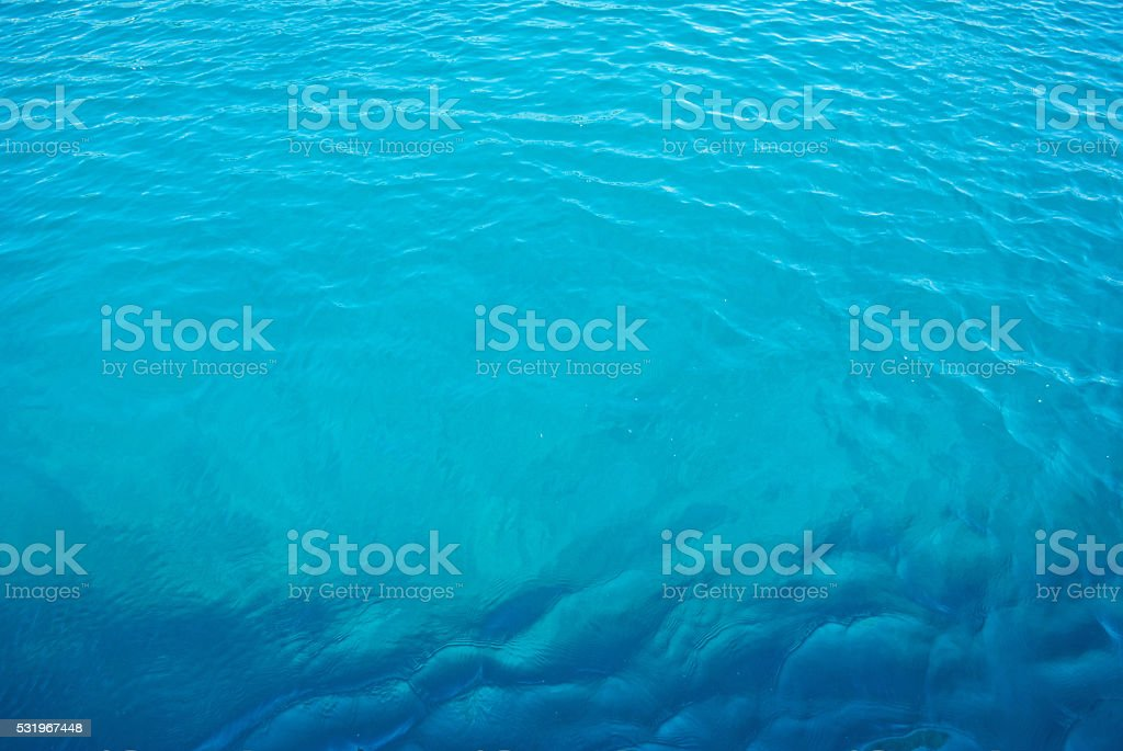 Blue of the waves stock photo