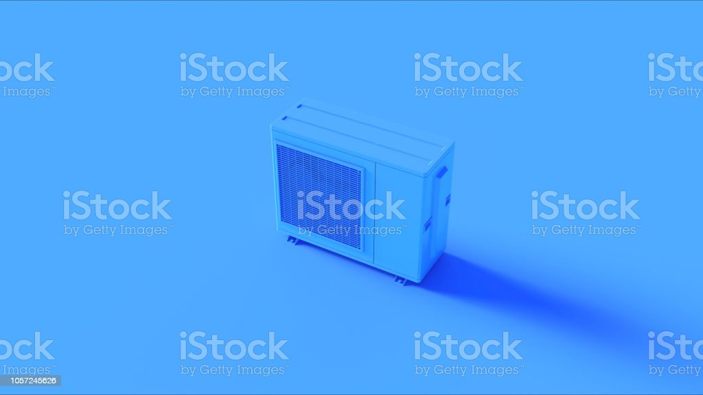 Blue Office Air Conditioner stock photo