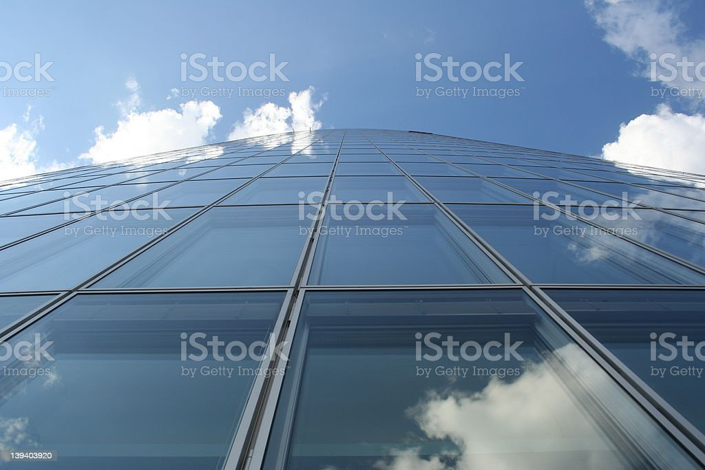 blue office building royalty-free stock photo