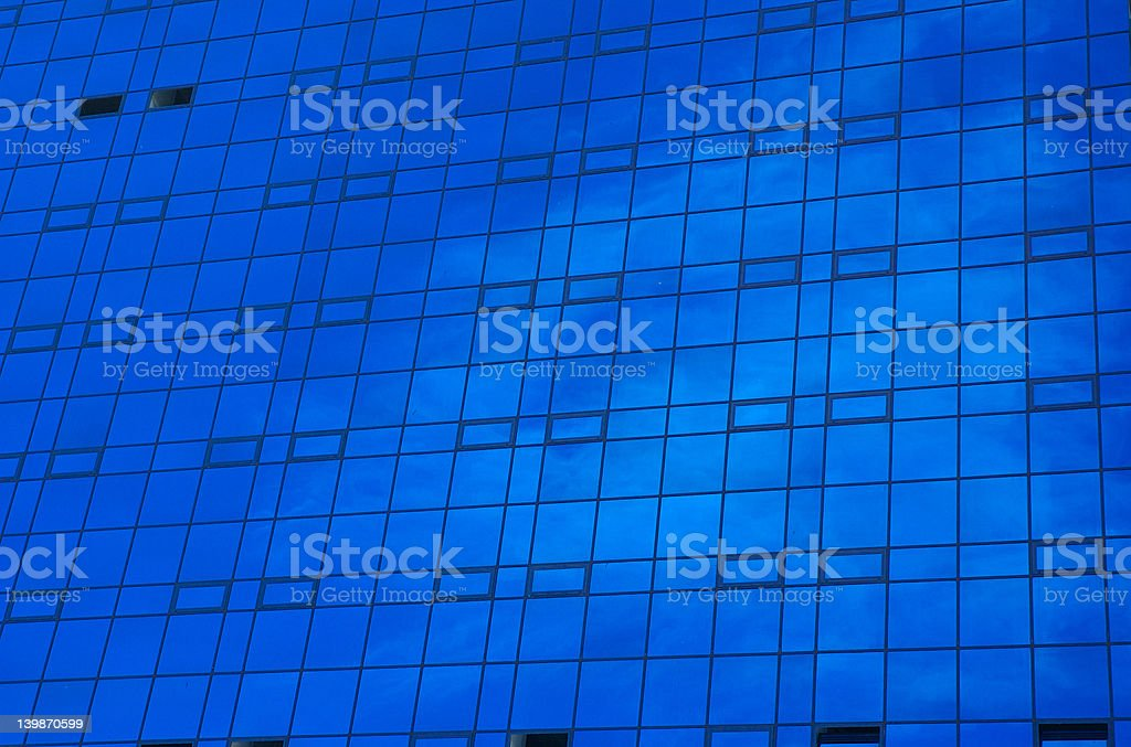Blue office building stock photo