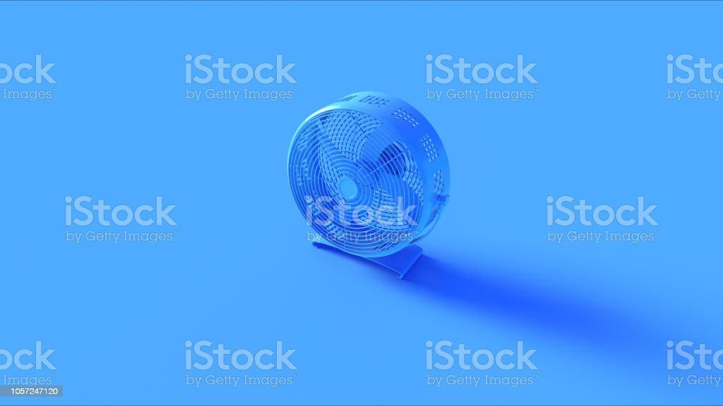 Blue Office Cooling fan stock photo