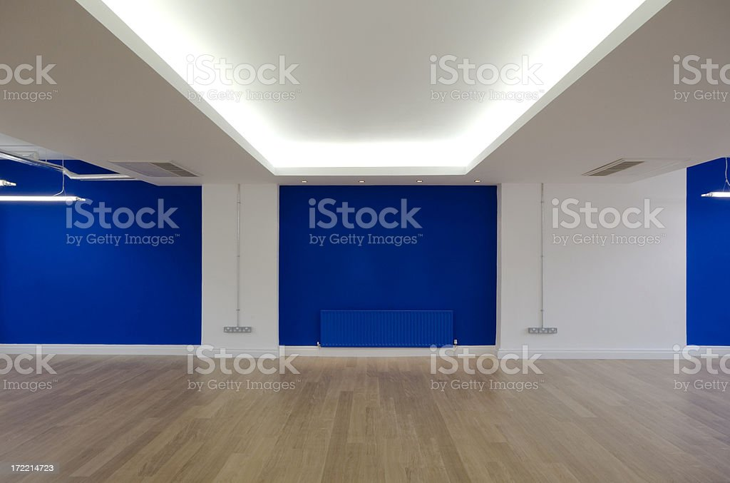 Blue Office royalty-free stock photo