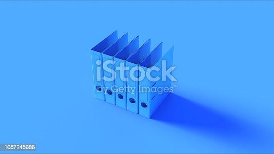 istock Blue Office Ring Binders 1057245686