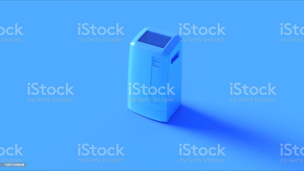 Blue Office Server Room Cooler stock photo
