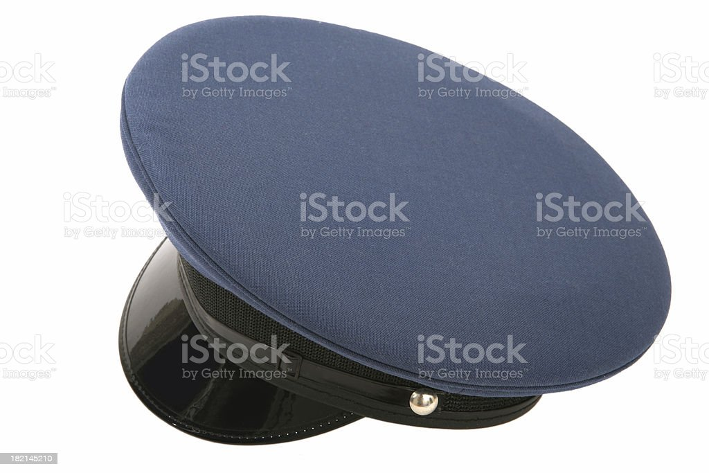 Blue Officers Hat stock photo