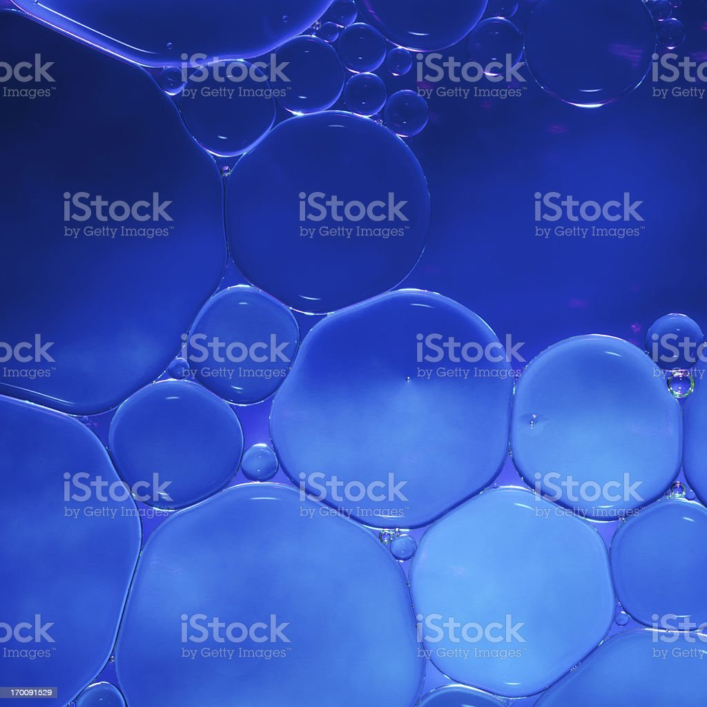 blue oil drops royalty-free stock photo