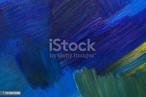 istock Blue oil paint mixed. Abstract texture. 1194892668