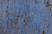 Blue old venetian cement plaster wall background. Close up