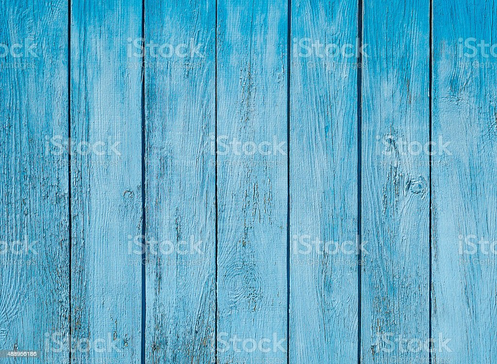 Blue old wood plank texture stock photo