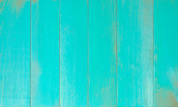 blue old wooden fence - palisade boundary stock photos and pictures