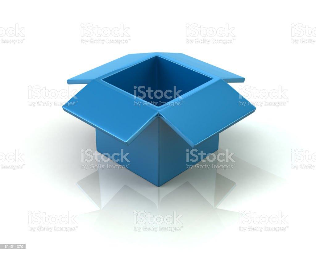 Blue open box stock photo