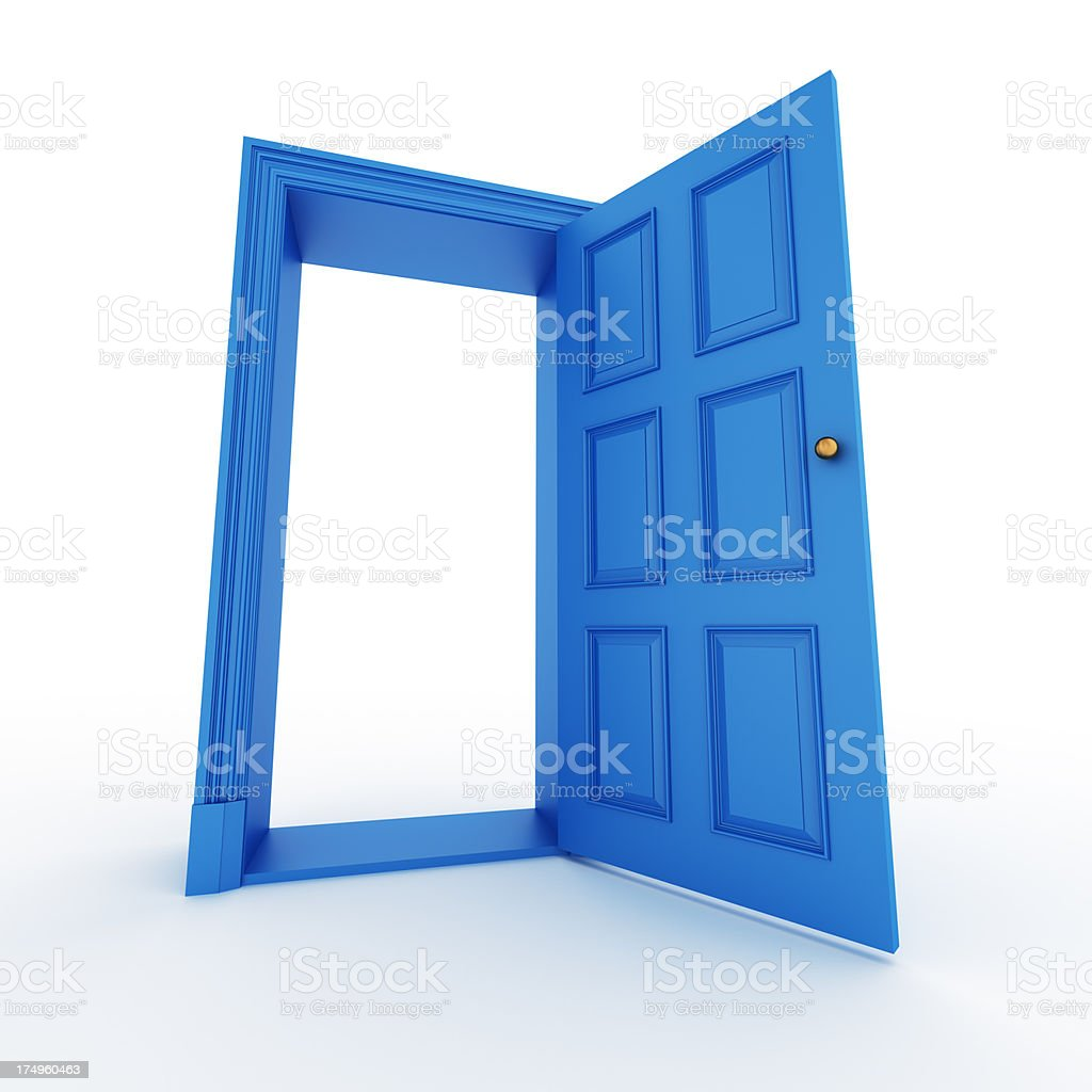 blue open door royalty-free stock photo